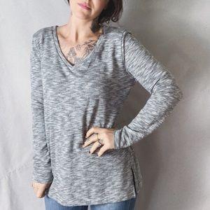 NWOT J. CREW Mercentile V-Neck Tunic Sweatshirt